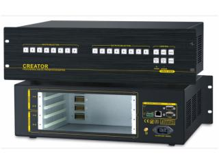 CR-VMAX0808-(模塊化結構主體機箱)8進8出混合矩陣主機