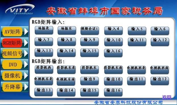 安徽省蚌埠市国家税务局会议系统控制方案