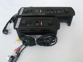 JN-207E-電動翻轉多功能會議臺面插座