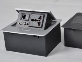 JN-203-e-大班台桌面插座线盒