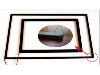 S(×)-(×):例,S6-65: 即6点65寸红外触摸屏(不含玻璃)-S系列-23mm超窄边触摸框