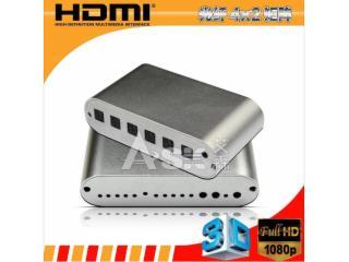 ADMX0402M1-HDMI SPDIF 4X2矩陣/光纖輸入輸出/光纖接口