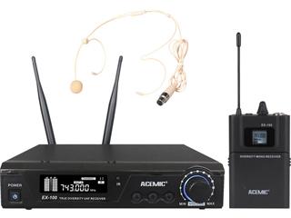 EX-100H-UHF領夾無線麥克風