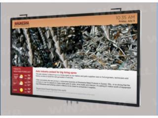 WA-E5508BA-winall冠眾55寸高清網絡數字標牌、廣告機、樓宇廣告機、觸摸一體機、電子閱報