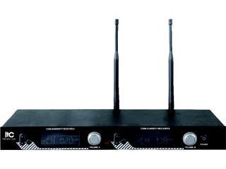 UHF段液晶显示可调频真分集无线话筒-T-521UH图片
