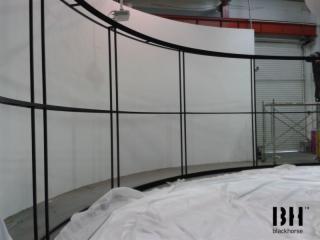 软幕-弧形软幕支架