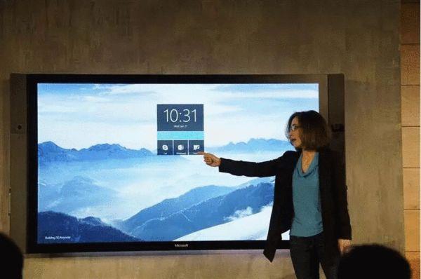 微软推会议显示巨型触屏平板电视Surface Hub