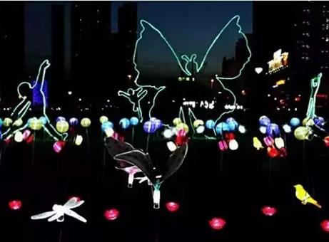 古镇灯光节 不容错过的星光联盟&创显LED灯光秀