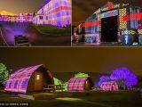 """英艺术家3D投影苏格兰格纹 为农场""""换装"""""""