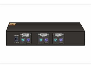 HS-KVM102D-DVI-KVM切换器