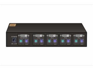 HS-KVM104D-DVI-KVM切换器