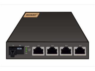HS-10/100M4D-20SA-四電口光纖收發器