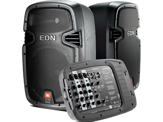 JBL EON 210P-EON200系列内置功放调音台便携式扩声系统