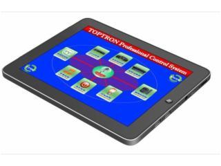 TOP-G7CW-7寸無線觸摸屏,會議觸摸屏,觸摸屏中控,觸屏集中控制器,網絡觸屏