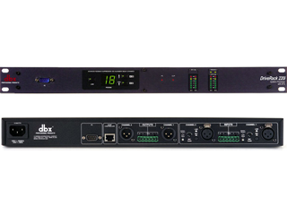 DBX DriveRack 220i-带自动反馈抑制器的信号处理器