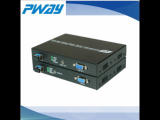 PW-THF121-VGA無壓縮光纖延長器 單模單纖 10公里 LC光口 獨立音頻(3.5mm)
