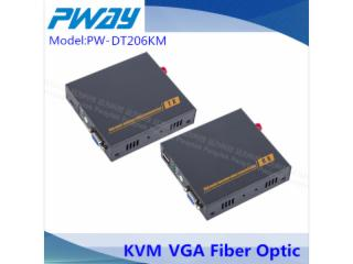 PW-DT206FKM-VGA光端機 單模單纖 10公里  KVM(鍵盤鼠標)本地輸出 3.5mm