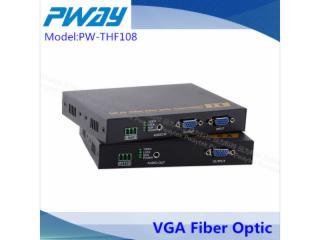 PW-THF108-VGA無壓縮光延長器 單模單芯 10公里 LC光口 本地輸出 3.5mm音頻