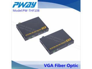 VGA无损光端机 单模单纤 10公里 LC光口 本地输出(环出)独立音频-PW-THF108图片