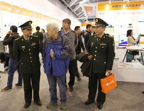 许祖彦院士等学会领导参观第二届军民融合发展高技术成果展