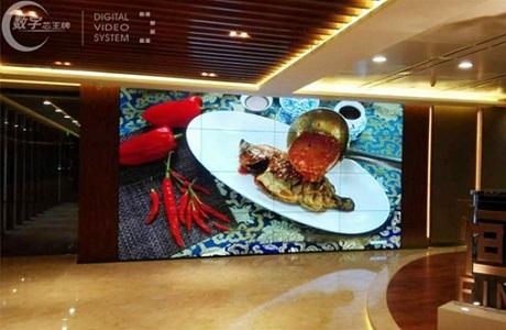 极致拼缝1.8mm 王牌55寸大屏进驻广州合景国际金融广场