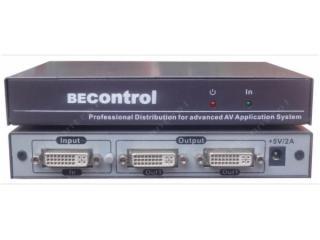 BEC-DVI0102-1进2出DVI分配器 2口DVI分配器 DVI扩展分配器