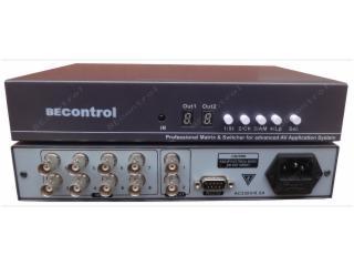 BEC-V0801-8进1出视频切换器 CVBS切换器 8路监控视频选择器 支持RS232控制