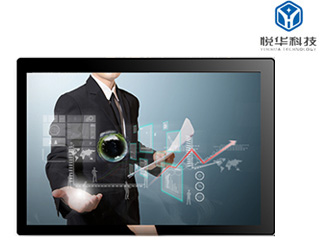 YH-201505-55寸壁掛式觸摸一體機 高清大屏幕多媒體樓宇廣告機 可定制