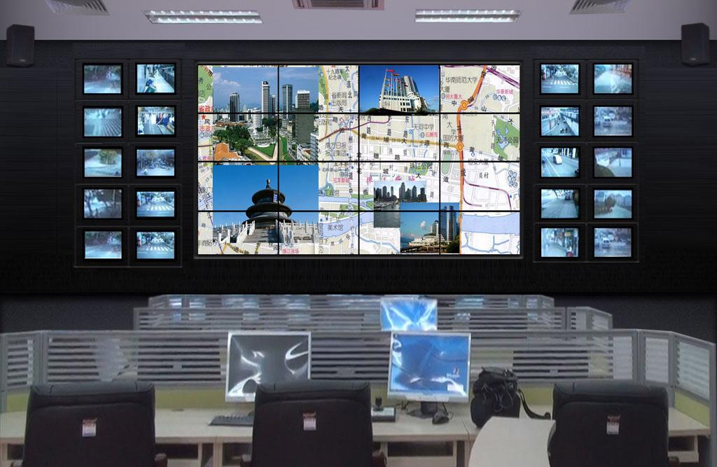 杰和多屏拼接监控系统方案 完美打造平安城市