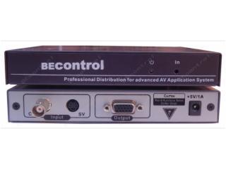 BEC-CSV101-CVBS转VGA转换器 监控视频转VGA显示