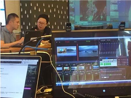 """CCTV13把""""演播室""""搬到福州去,在台风眼直击""""尼伯特"""""""