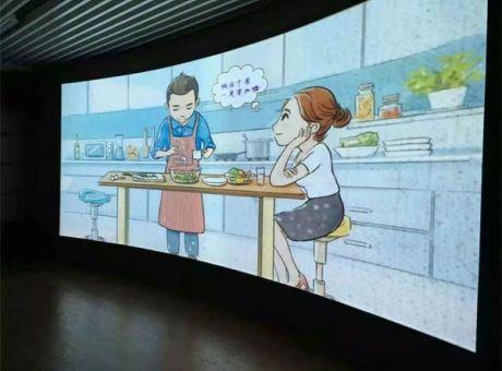 乐丽工程投影进驻广州某企业宣传厅