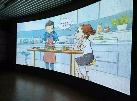 助力企业品牌建设 乐丽进驻广州某企业宣传厅