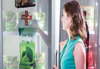 美国便利店惊现透明数字自助广告机
