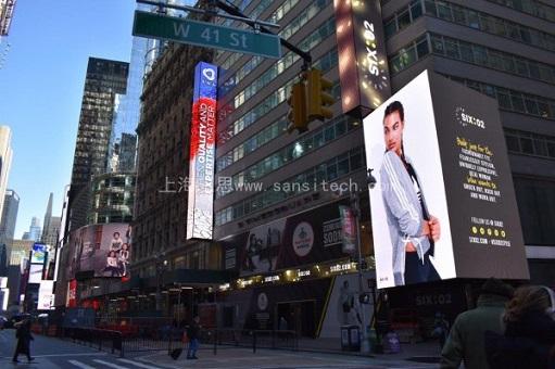 两块SANSI大屏再次点亮时代广场  三思书写中国屏幕传奇