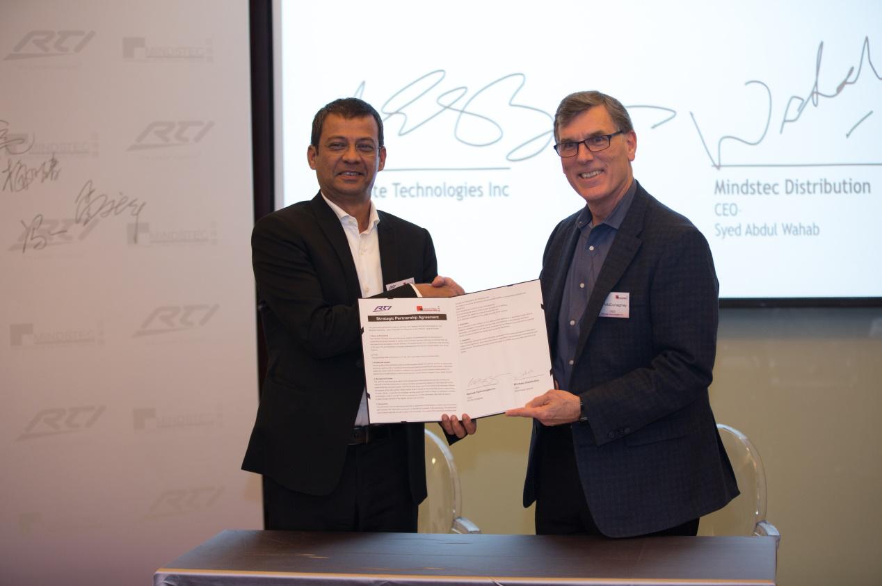 RTI与迈诗得(Mindstec)签署战略合作伙伴协议
