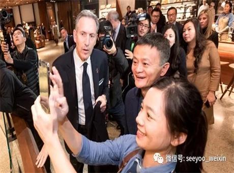 星巴克携手阿里巴巴为全球最大新零售智慧门店揭幕