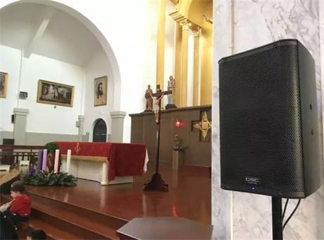 东方佳联为上海圣伯多禄教堂打造全套有源流动演出系统