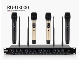 U3000-UHF一拖四 -U3000- 抑制防嘯叫 無線手持話筒