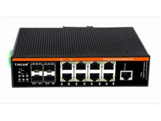 TBC-GF2748-D20LC-天博TINCAM 4路SFP千兆光口+8千兆電口工業級以太網交換機