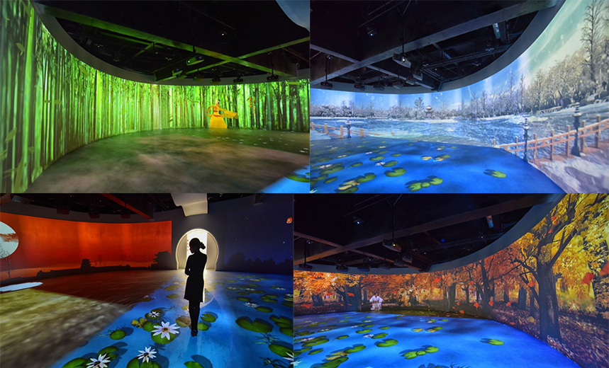 颜值与稳定俱全、画质与性能兼备——64台明基工程投影机点亮明显陵人文旅游展馆
