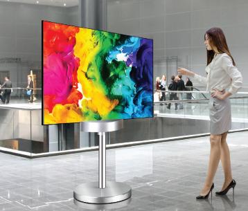 LG双面平面OLED标牌显示器-55EH5C图片