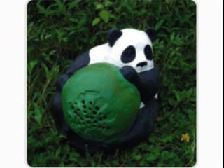 TM-910-仿真抱球熊貓揚聲器