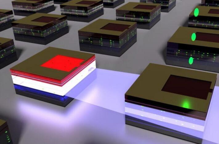英发现LED光可激发相邻LED的量子点