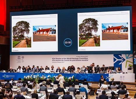洲明科技LED显示屏助力世界遗产大会