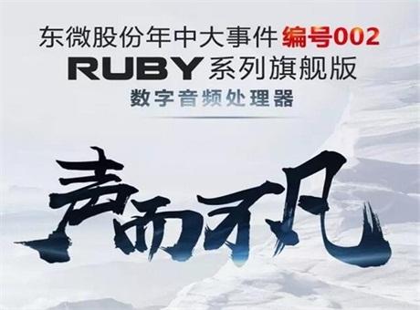 东微股份年中大事件,编号002:声而不凡——RUBY系列旗舰版数字音频处理器 闪耀发布