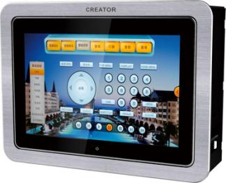 8英寸嵌墙有线画中画可编程触摸屏-CR-LAN G7S图片
