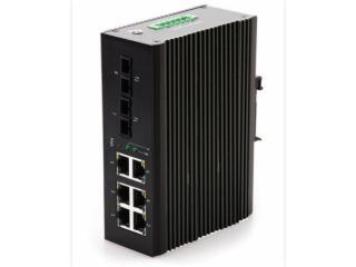HY5700-5526F-SC20-百兆2光6電8口工業級交換機導軌式串聯工業級光纖收發器