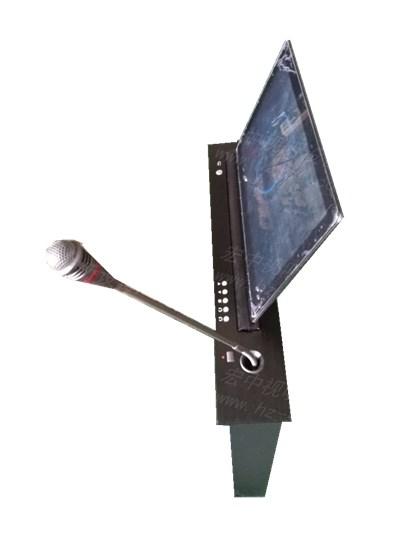 宏中视听     无纸化超薄带话筒同步升降器-超薄升降器图片