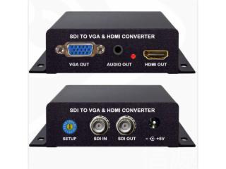 HD320-SDI转HDMI+VGA信号转换器 高清 变频 无缝切换 进口芯片